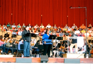 Conductor Carlos Kalmar with Soprano Jonita Lattimore and Tenor Bryan Griffin