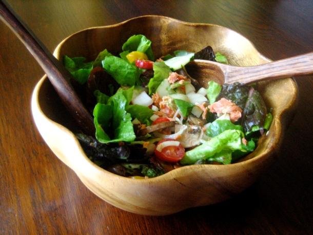 Summer Salmon Salad with Raspberry-Mustard Vinaigrette