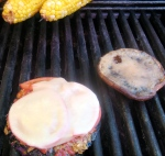 Grill on Bruschetta and Baja Lime Marinade portabellas on medium