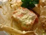 Baked Raspberry Mustard Salmon