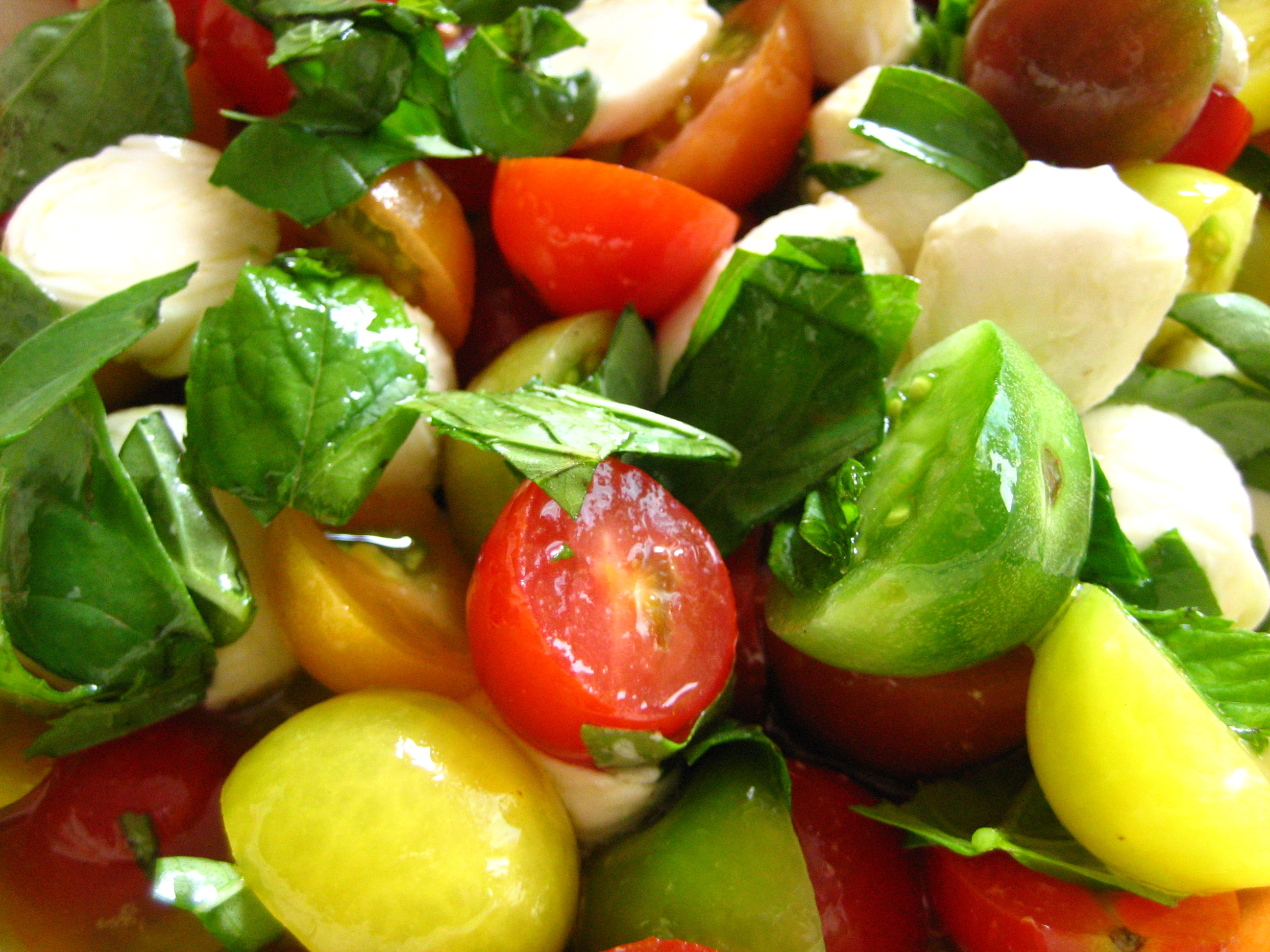 basil salad recipes marinated mozzarella cherry tomato and basil salad ...