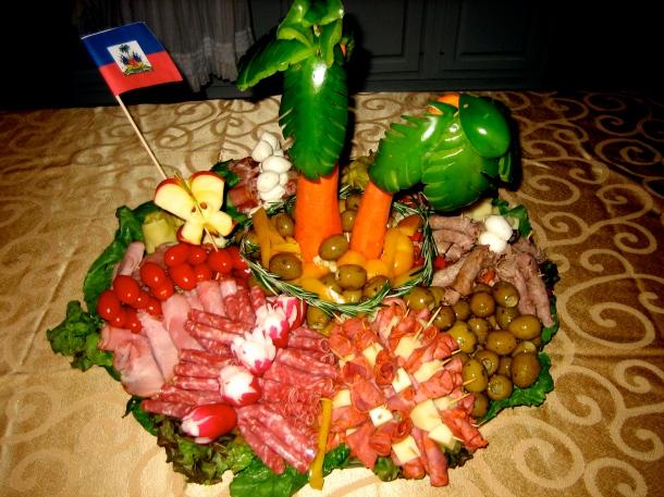 Italian-Haitian Island Antipasto Platter