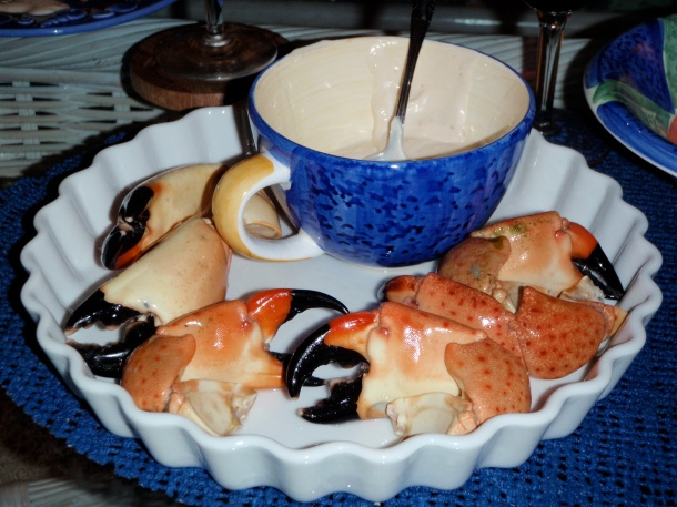 Stone Crab with Mustard Sauce Photography by Frantz Cartright