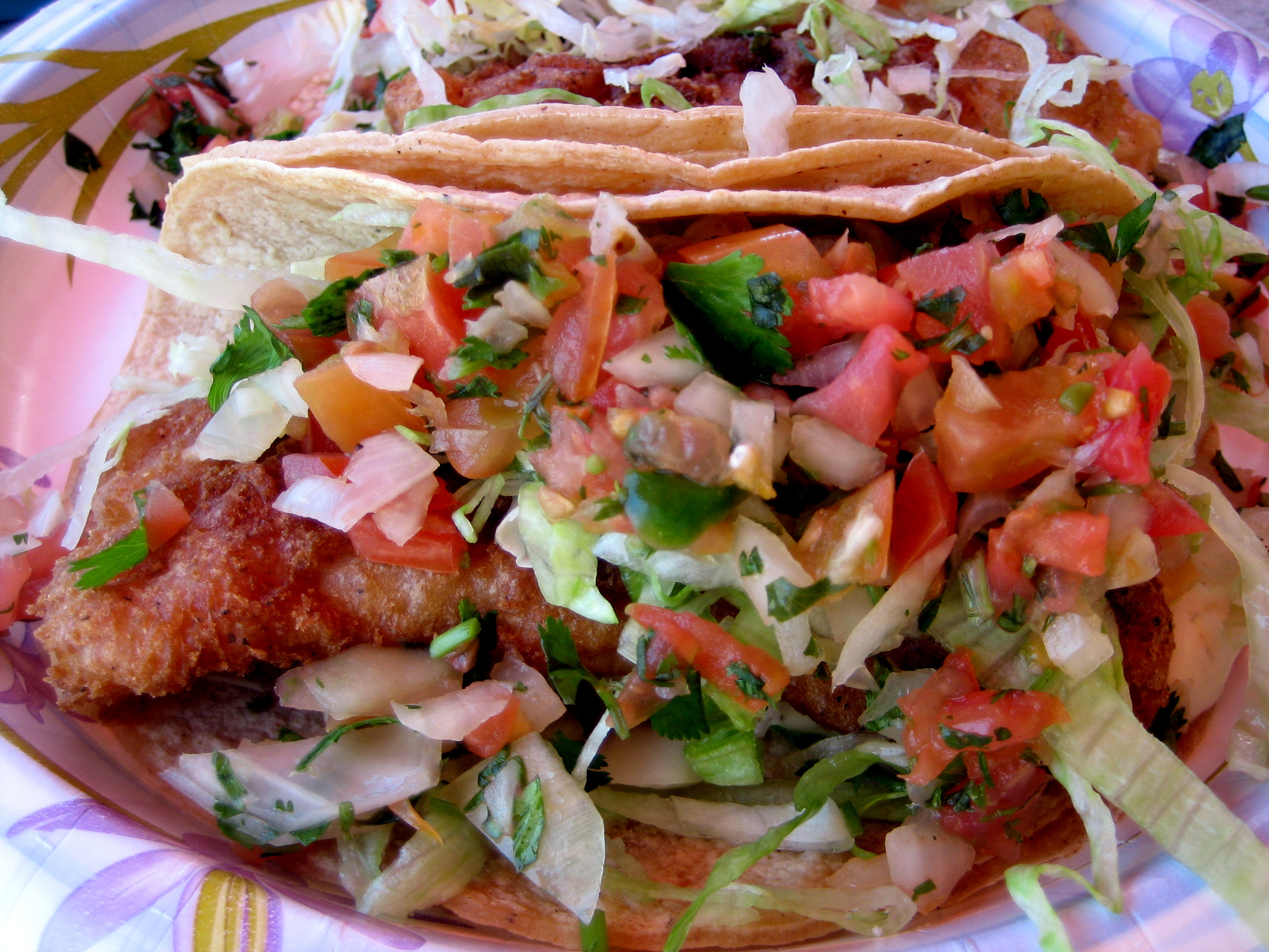 Cinco de mayo crispy fish tacos italian handful for What kind of fish for fish tacos