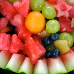Vanishing Lime-Vodka Watermelon Fruit Basket