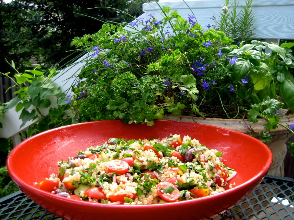 Italian Quinoa With Fresh Garden Herbs Italian Handful