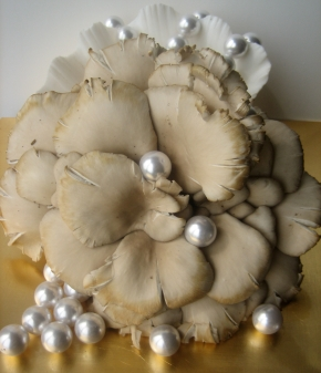 Roasted Oyster Mushrooms and GnocchiPearls