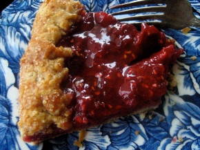 RASPBERRY RHUBARB CROSTATA WITH RASPBERRY VINEGAR GLAZE