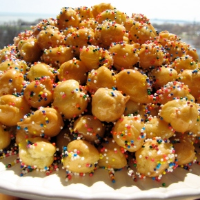 Struffoli Balls Not From the Bakery For Anthony